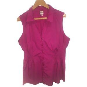 Fashion Bug Sleeveless Button Down Top Size 18W